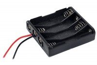 BATTERY HOLDER 4x AA IN PARALLEL WITH WIRES