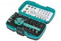 22PCS PALM RATCHET WRENCH BIT & SOCKET SET