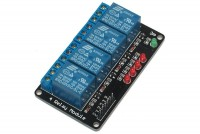 RELAY MODULE WITH 4 RELAYS 5VDC