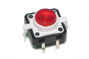 KEY SWITCH N.O. 12x12mm with RED LED