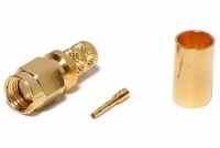 SMA-CONNECTOR Reverse MALE CRIMP FOR HFX CABLE