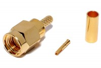 SMA-CONNECTOR Reverse MALE CRIMP FOR RG316/174 CABLE