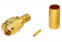 SMA-CONNECTOR Reverse MALE CRIMP FOR RG58 CABLE