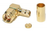 SMA-CONNECTOR Reverse MALE CRIMP ELBOW FOR RG58 CABLE