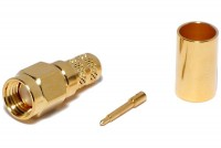 SMA-CONNECTOR MALE CRIMP FOR HFX CABLE