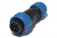 PLUG MALE 5-PIN IP68 5A 180V