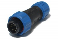 PLUG MALE 6-PIN IP68 5A 125V