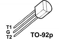 TRIAC 1A 600V 3mA TO92