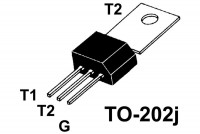 TRIAC 4A 400V 10mA TO202