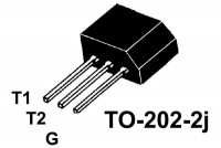 TRIAC 4A 400V 25mA TO202-2