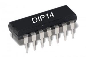TTL-LOGIIKKAPIIRI NAND 7437 LS-PERHE DIP14
