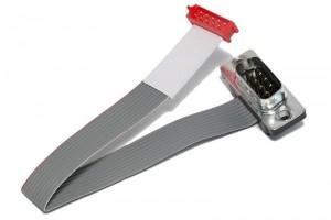 OUTSALE FLAT CABLE WITH CONNECTORS D9M/CA30-10 15cm