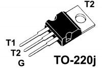 TRIAC 12A 600V 50/50mA TO220