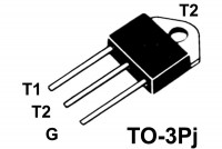 TRIAC 25A 600V 50/50mA TO3P