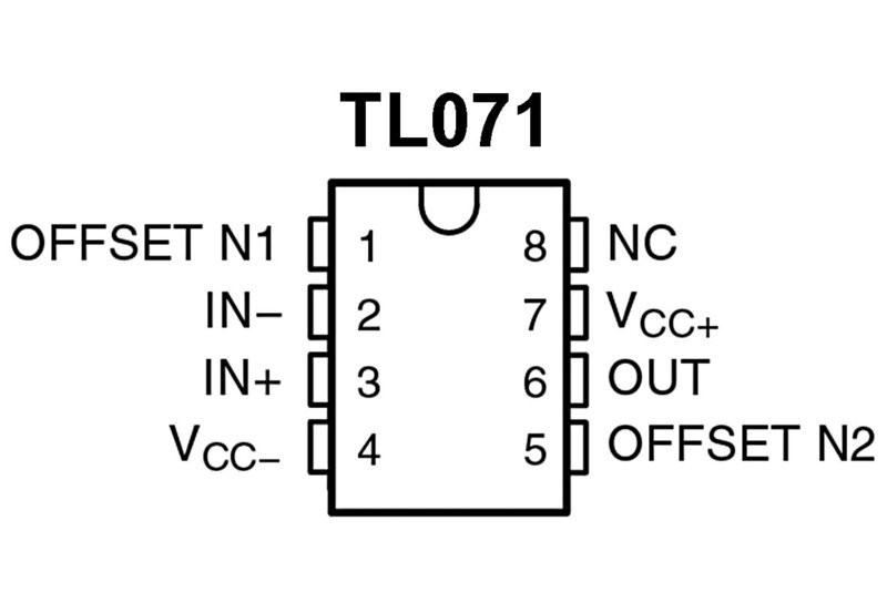mikropiiri opamp tl071 so8