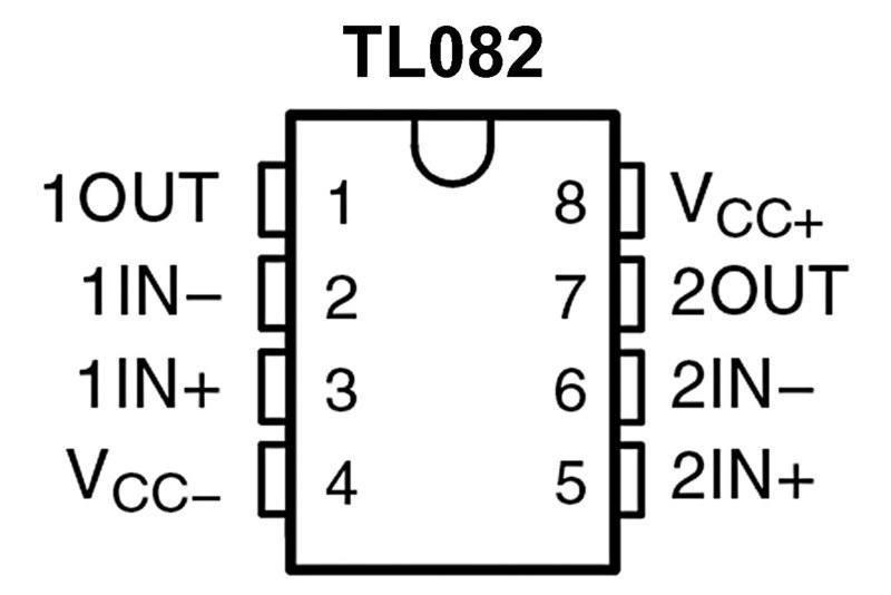 integrated circuit opampd tl082 so8
