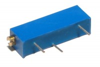 22-TURN TRIMMER RESISTOR: 100ohm