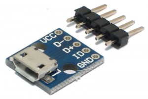 microUSB FEMALE BREAKOUT BOARD