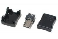 USB microB UROS 5-PIN JOHTOLIITIN JUOTETTAVA