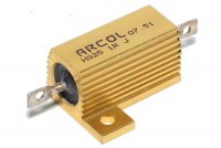 ALUMINIUM HOUSED RESISTOR 25W: 0,1ohm