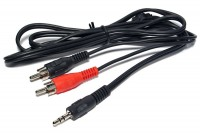 2x RCA MALE / 3,5mm STEREO-PLUG CABLE 5,0m