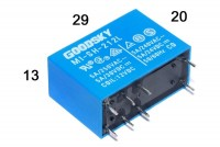 PCB RELAY DPDT 5A 12VDC