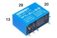 PCB RELAY DPDT 5A 6VDC