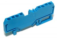 DIN-RAIL 4-CONDUCTOR BLOCK 4x 2,5mm2 (blue)
