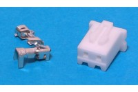 JST XH-CONNECTOR 2-POLE (pins incl.)