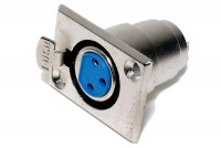 XLR FEMALE PANEL MOUNT SOCKET 3-PIN
