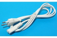 EURO POWER CORD IEC C7 WHITE 1,5m
