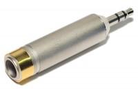 ADAPTERI JAKKI STEREO 6,3mm / PLUGI STEREO 3,5mm METALLI