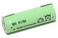 4/5 AA-AKKU NiMH 1,2V 1200mAh (juotoslipoilla)