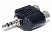ADAPTER PLUG STEREO 3,5mm / 2x RCA FEMALE