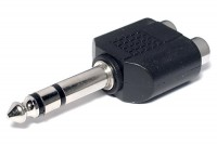ADAPTER PLUG STEREO 6,3mm / 2x RCA FEMALE