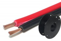 SPEAKER CABLE 2x 0,75mm2 REDBLACK (CCA) 100m roll