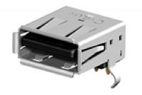 USB 2.0 TYPE-A NAARAS RUNKOLIITIN PIIRILEVYLLE