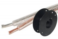 SPEAKER CABLE 2x 0,22mm2 TRANSPARENT (CU) 100m ROLL