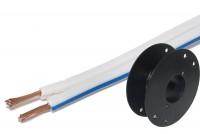 KAIUTINKAAPELI 2x 0,50mm2 VALKOINEN (CCA) 100m kela
