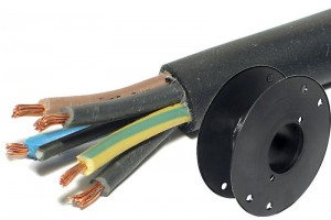 MAINS RUBBER CABLE 5x 1,50mm2 BLACK 100m roll