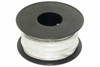 EQUIPMENT WIRE 0,22mm2 WHITE 100m roll
