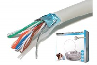 TWISTED PAIR CABLE CAT5e 4x2 SHIELDED 100m box