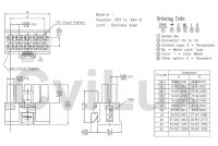 3,0mm 10pole female wire, metal latch UL 94V-0 dwg