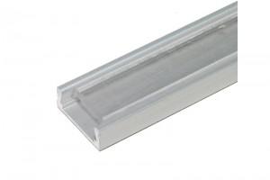 ALUMINIUM LED-STRIPE PROFILE CLEAR COVER 1m