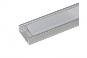 ALUMINIUM LED-STRIPE PROFILE MATT COVER 1m