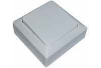 LIGHT SWITCH 1/6 WHITE SURFACE-MOUNTABLE