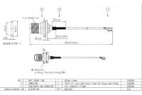 U.FL - TNC(F)ST SQFlange+O-ring L150mm dwg