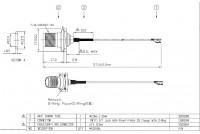 U.FL - TNC(F)ST SQFlange+O-ring L57mm dwg