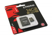 MEMORY CARD Kingston microSDHC UHS-I U3 16GB