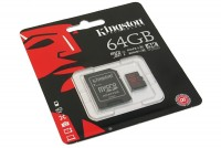 MUISTIKORTTI Kingston microSDXC UHS-I U3 64GB